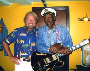Joe Edwards with Chuck Berry
