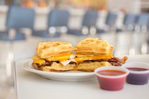 peacock loop diner breakfast sandwich