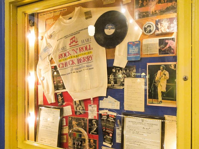 Chuck Berry memorabilia at Blueberry Hill